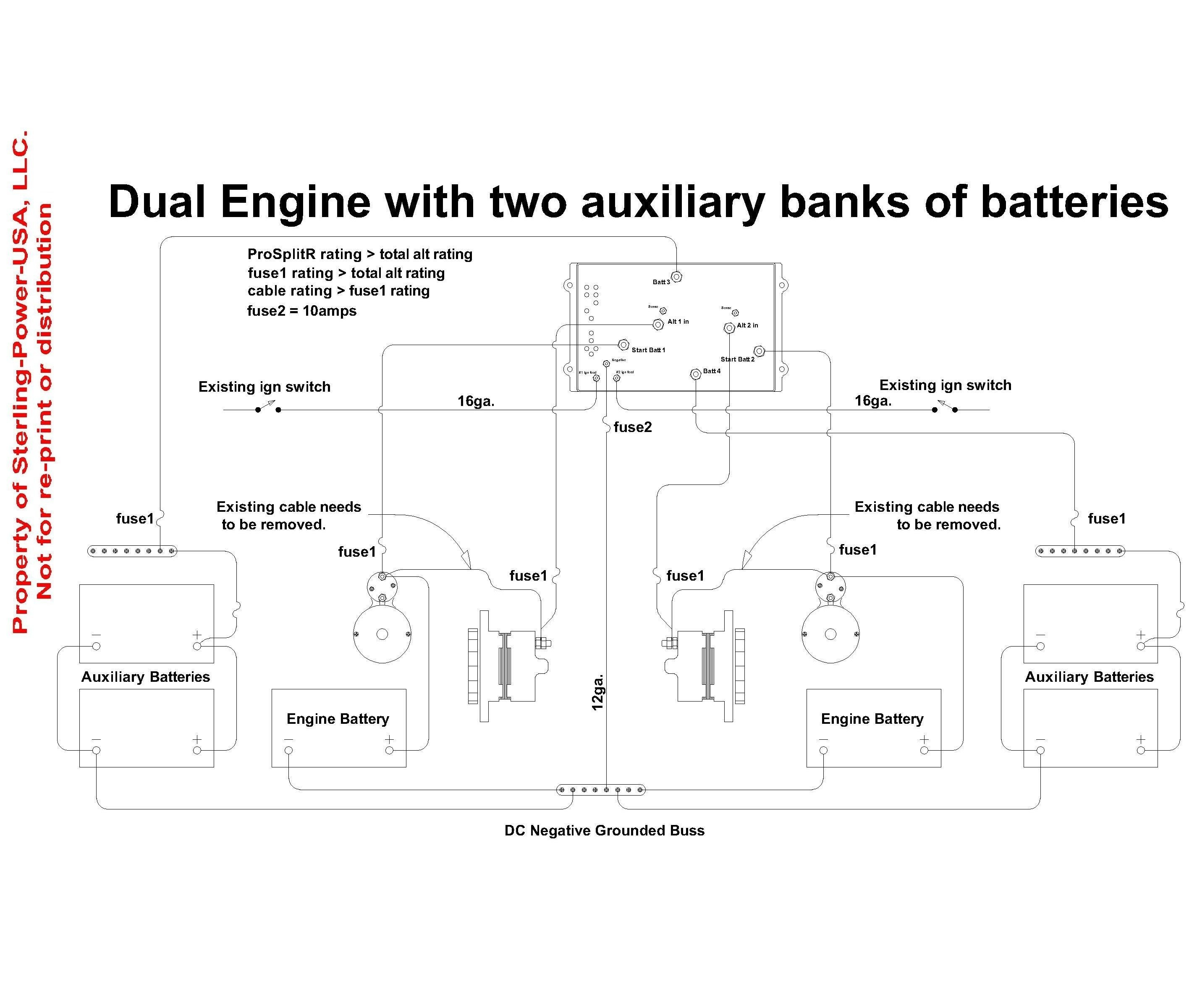 Battery Isolator Wiring Diagram Manufacturers Free Typical Circuits Dual Alternator Ac Save Winch Switch