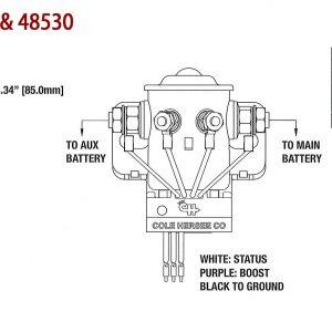 Battery isolator Wiring Diagram Manufacturers - Diagram Cole Hersee 200a Smart Battery isolator Ac Dc Marine Inc Striking Wiring 9e