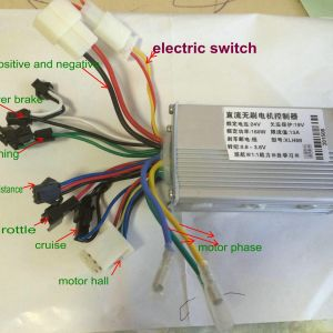 Bldc Motor Controller Wiring Diagram - 2018 24v36v48v 250w350w Bldc Motor Speed Controller 6 Mosfet Dual Mode Electric Bike Mtb Tricycle Scooter Moped Conversion Part From Phoebeqxvehiclesport 18b