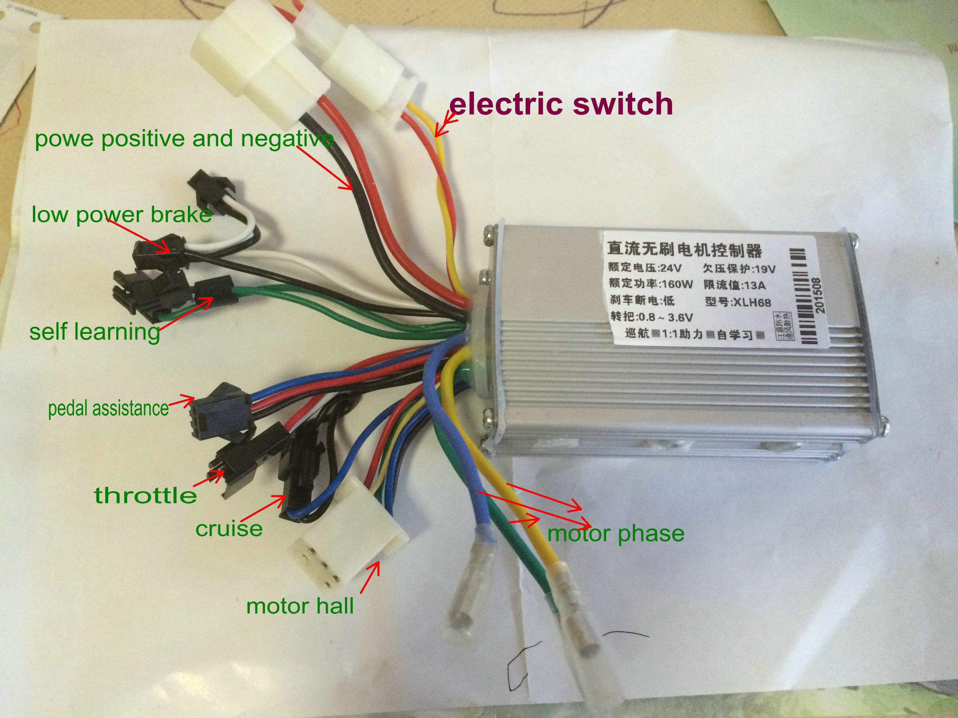 bldc motor controller wiring diagram Collection-2018 24v36v48v 250w350w Bldc Motor Speed Controller 6 Mosfet Dual Mode Electric Bike Mtb Tricycle Scooter Moped Conversion Part From Phoebeqxvehiclesport 14-n