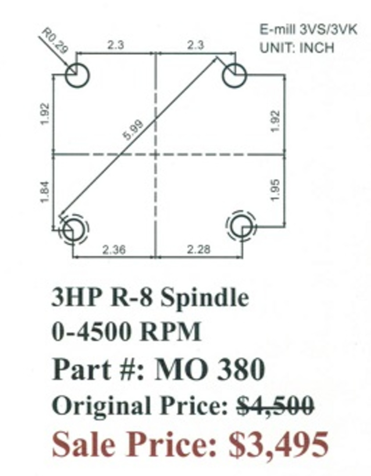 bridgeport series 2 wiring diagram Collection-Acer Bridgeport Style E mill Milling Head R 8 Spindle 6-b