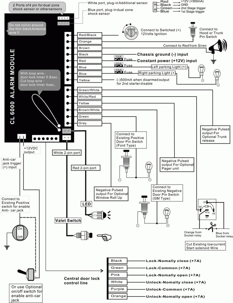 Carvox Alarm Wiring Diagram