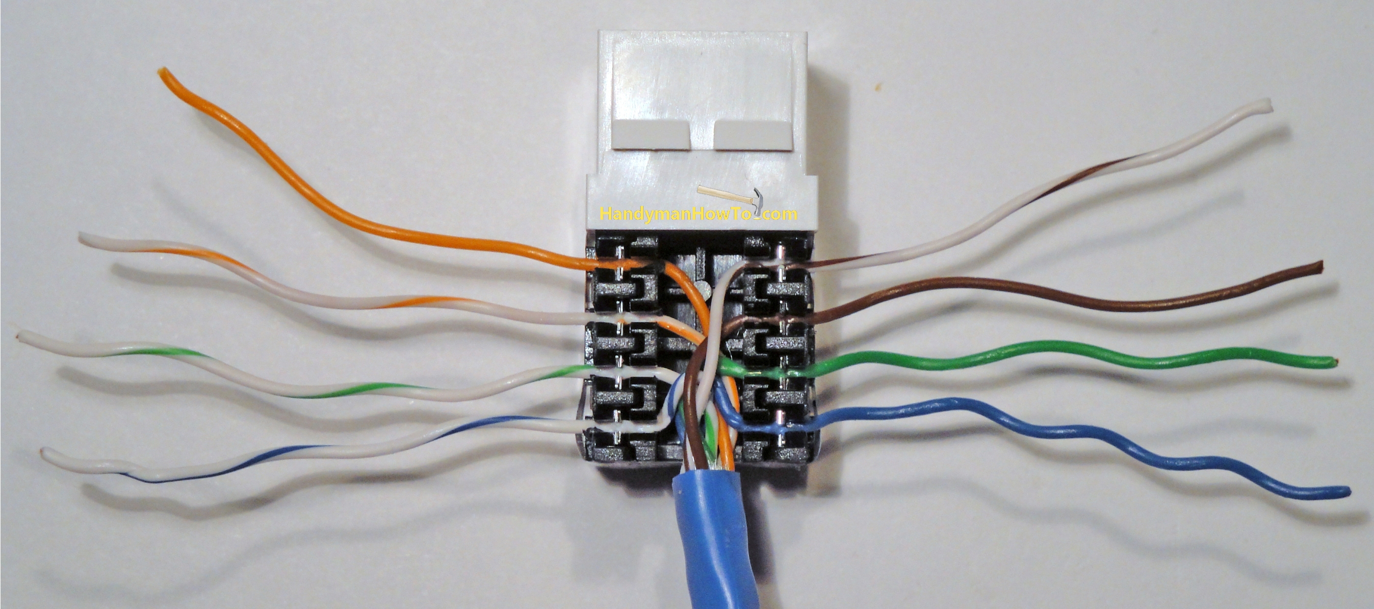 Cat 5 Wiring Diagram Wall Jack A Or B