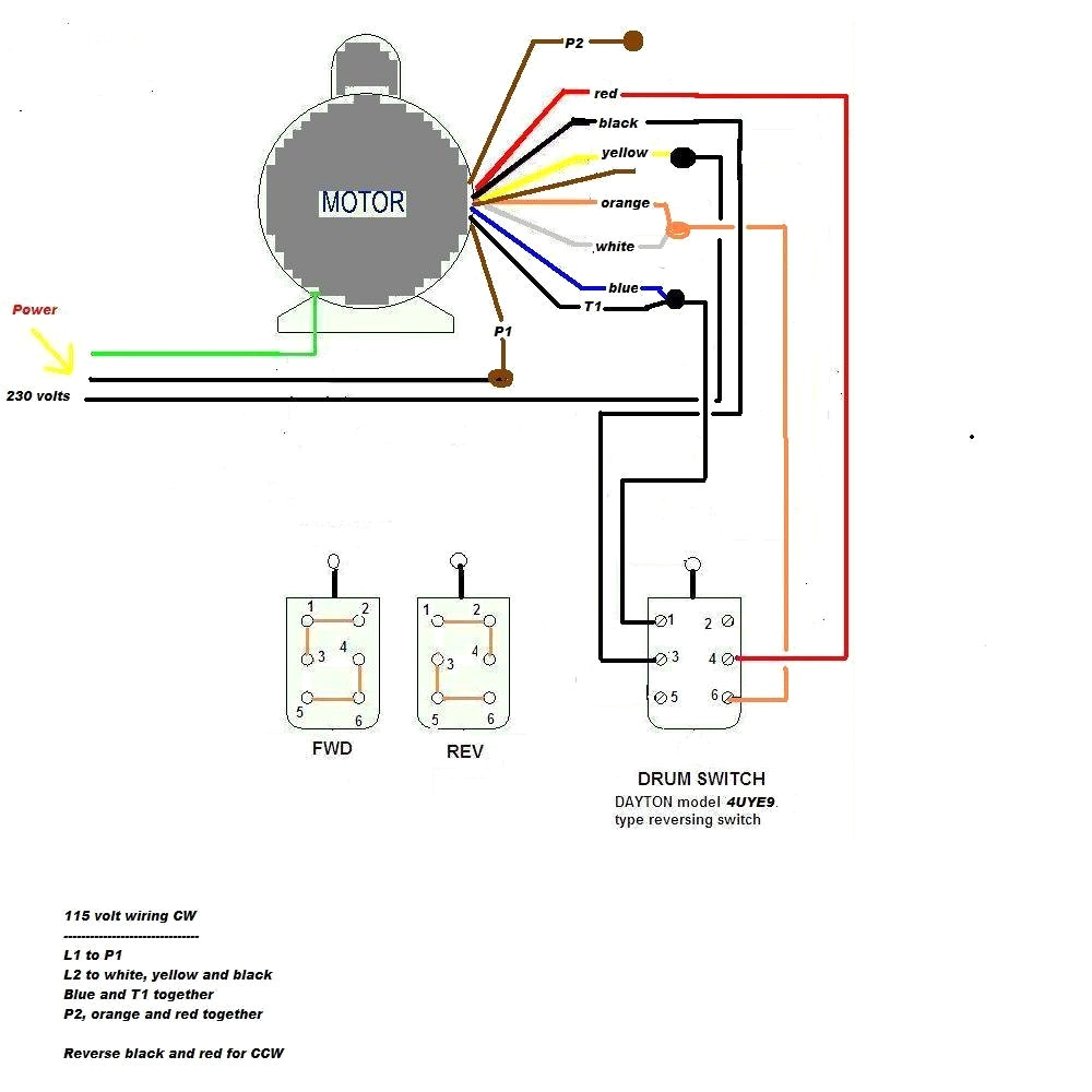 220 Single Phase Motor Wiring On 3 Phase Forward Reverse Motor 220 Volt Motor Wiring Diagram 220 Motor Wiring Diagram
