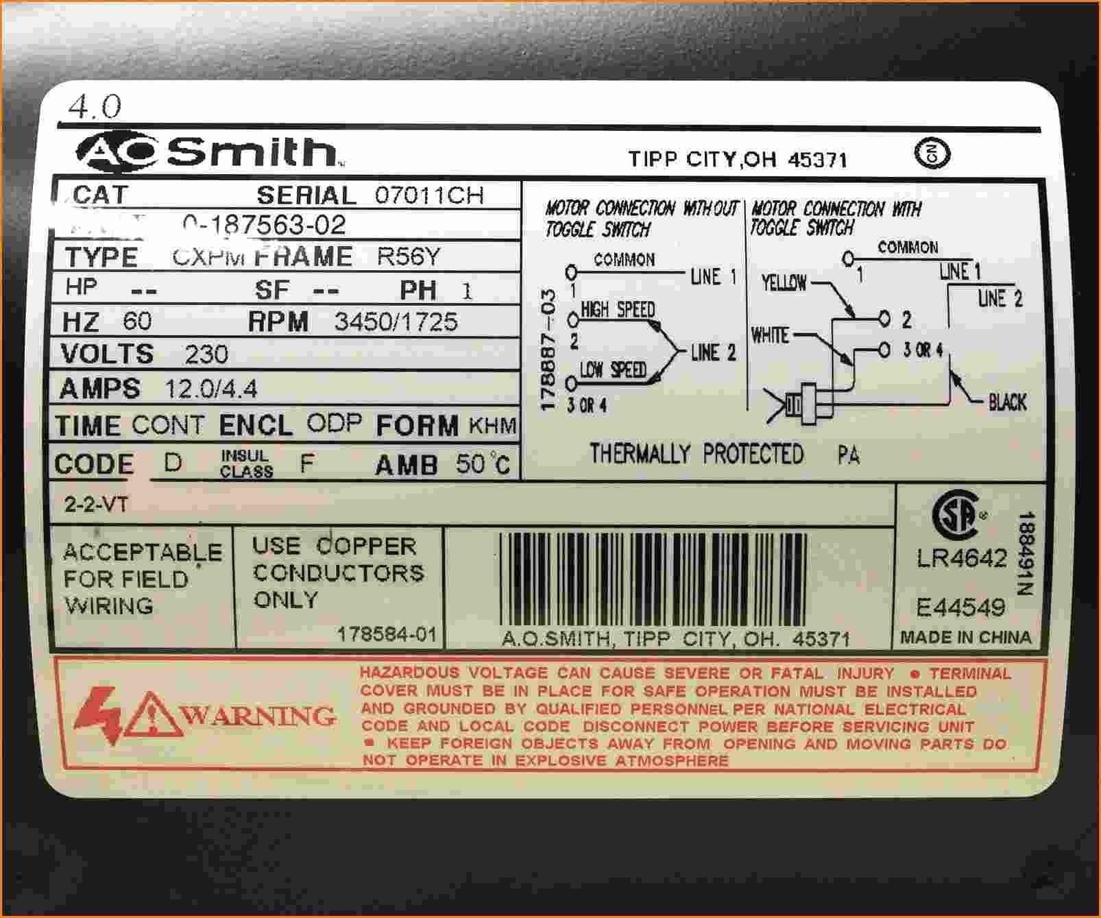 century 1 2 hp motor wiring diagram Download-Motor Nameplate Wiring Diagram New Motor Wiring Diagram Century Electric Motors 1 Hp Wiring Diagram 4-t
