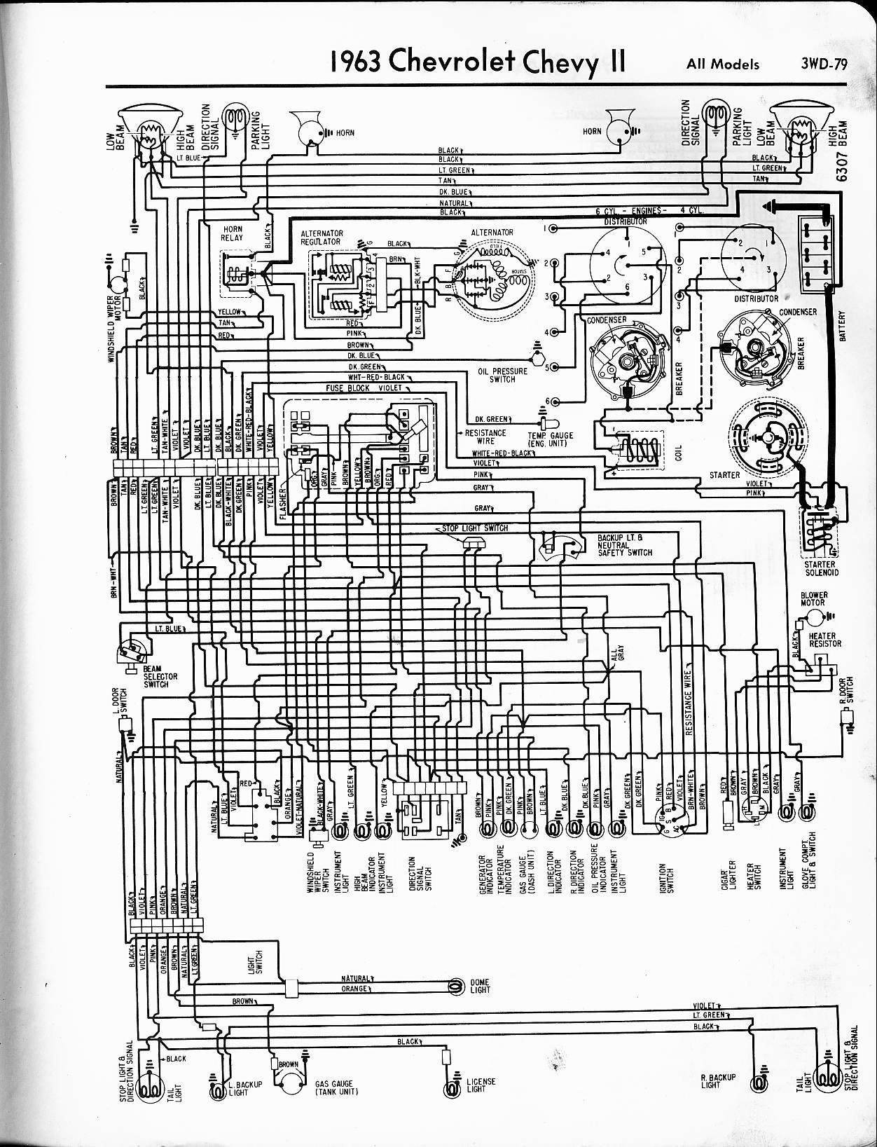 chevrolet cruze diagram wiring schematic Collection-1963 Chevy II All Models 18-s