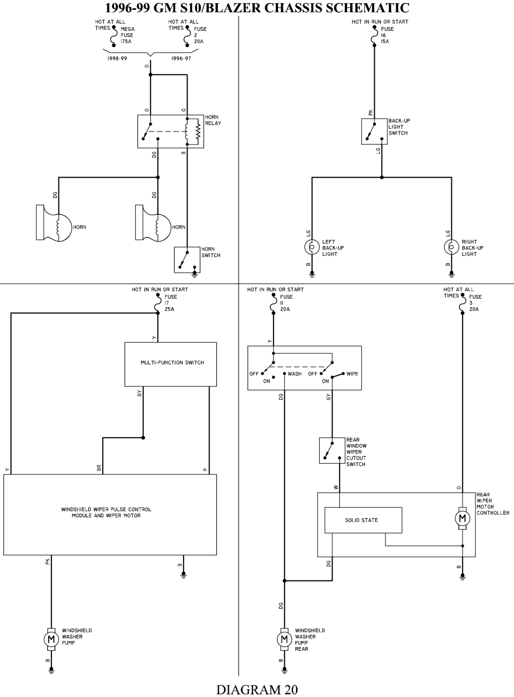 chevrolet s10 wiring diagram Collection-96 Chevy Blazer 4—4 Wiring Diagram Wiring Diagram • Wiring Diagram for 2002 5-h