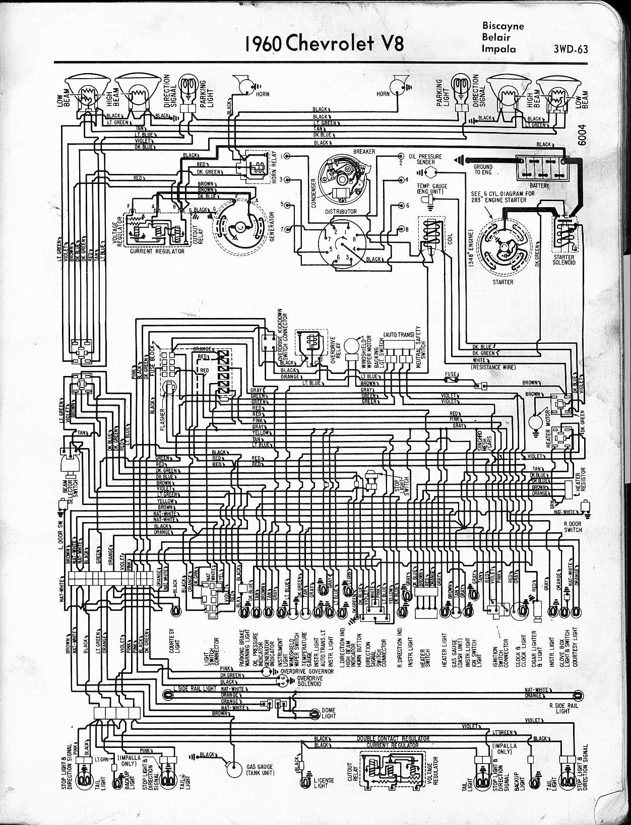chevy starter wiring diagram Download-1960 V8 Biscayne Belair Impala 16-l