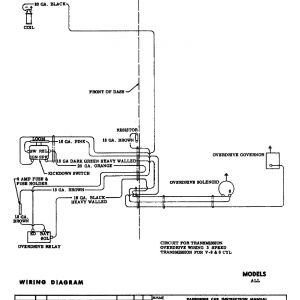 Chevy Wiring Harness Diagram - 1955 5 Speed Overdrive Circuit · 1955 Body Wiring Diagram 12l
