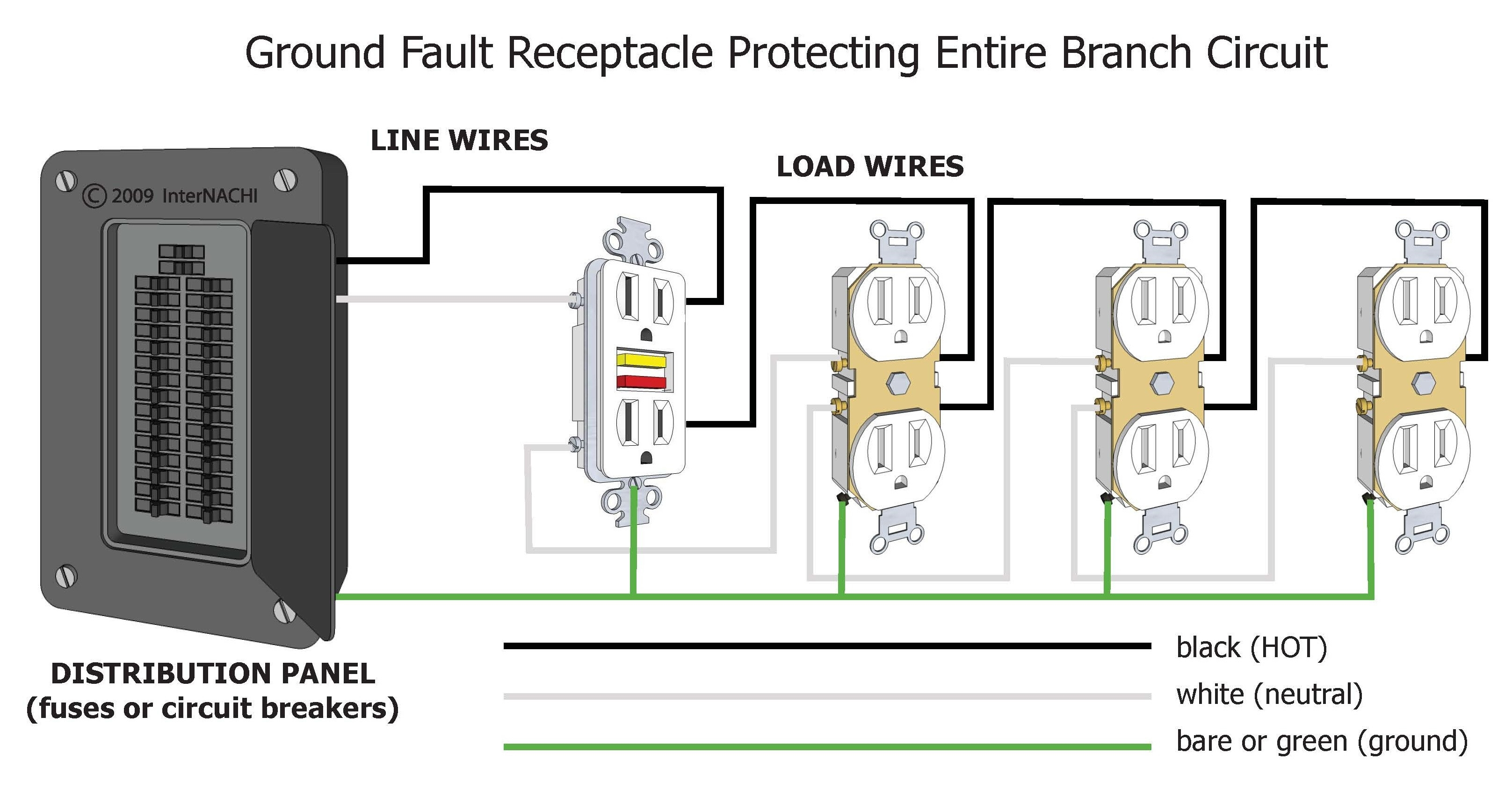 circuit breaker wiring diagram Collection-Wiring Diagram Gfci Fresh Gfci Wiring Diagram Without Ground Valid Gfci Circuit Breaker Wiring 13-k