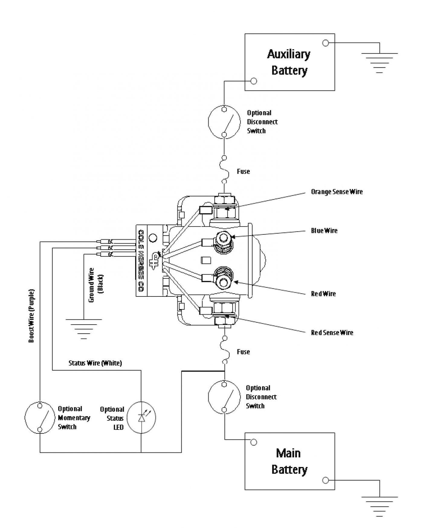 Cole Hersee Battery Isolator Wiring Diagram