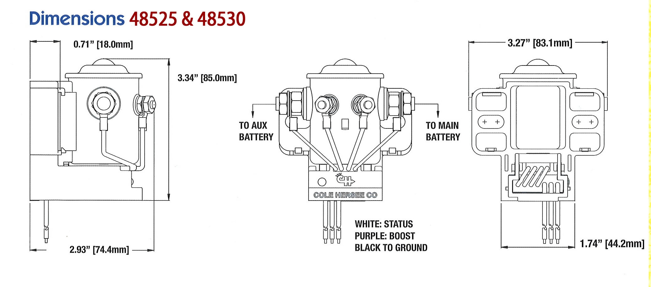 Cole Hersee Battery isolator Wiring Diagram - Cole Hersee 200a Smart Battery isolator Ac Dc Marine Inc 9n
