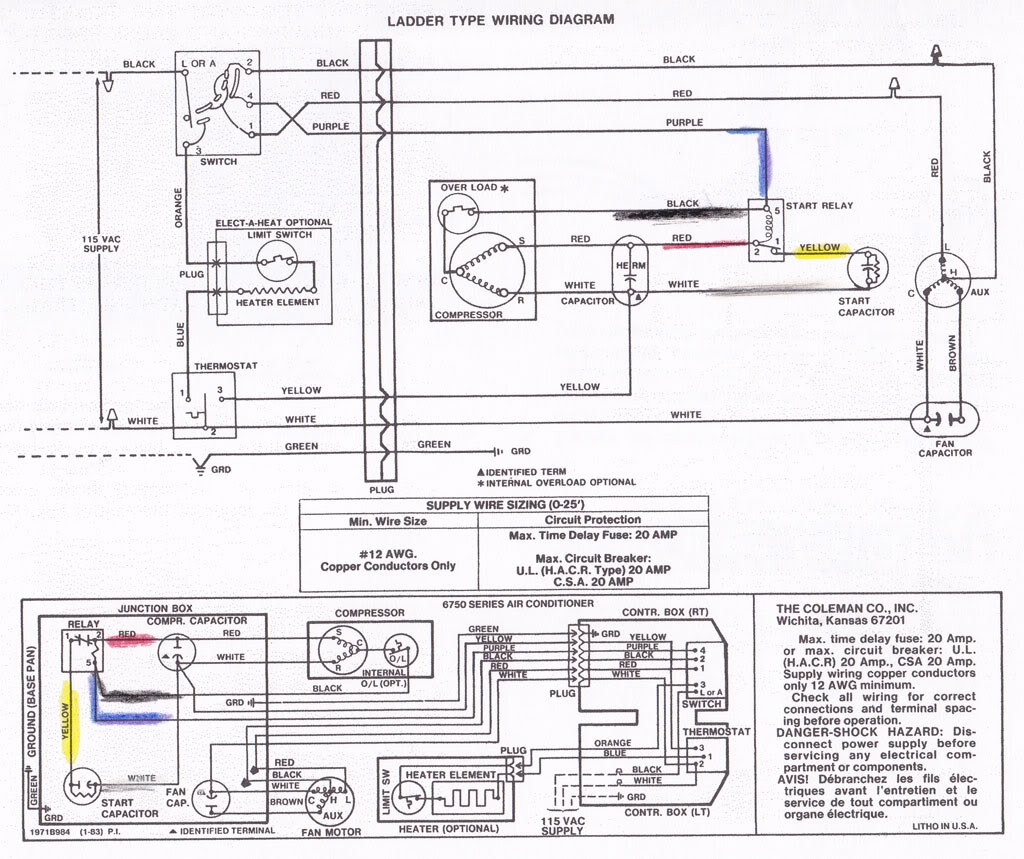 Coleman Mach Air Conditioner Wiring Diagram Free Wiring
