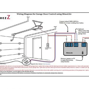 Commercial Garage Door Opener Wiring Diagram - Chamberlain Garage Door Opener Wiring Diagram How to Wire A Stunning 18d