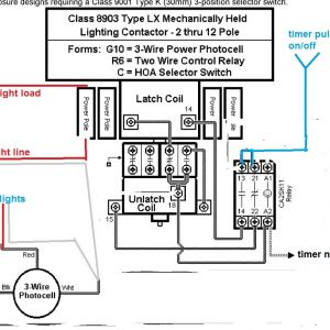 Contactor Wiring Diagram Pdf - Cell Wiring Diagram Lighting Contactor with 14n