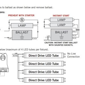 Convert T12 to T8 Wiring Diagram - Keystone 4 Foot Dimmable Led T8 Tube 5000k bypass Ballast Replace Rh Ledt8bulb Ge T12 Ballast Wiring Diagram T8 Dimming Ballast Wiring Diagrams 7b