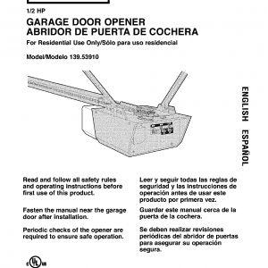Craftsman 1 2 Hp Garage Door Opener Wiring Diagram - Craftsman Garage Door Opener Wiring Diagram Unique Garage Door Manual Subversia 15f