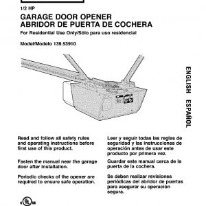 Craftsman Garage Door Opener Wiring Diagram - Craftsman Garage Door Opener Wiring Diagram Unique Garage Door Manual Subversia 17b