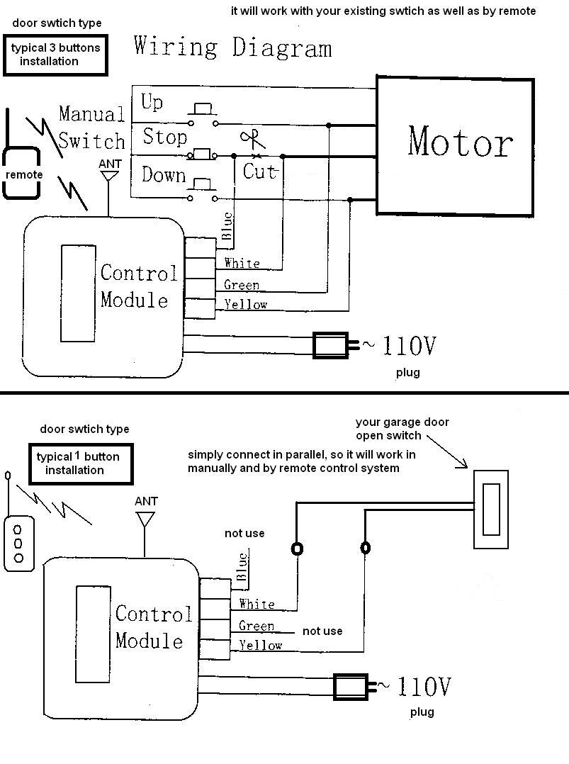 craftsman garage door opener wiring schematic