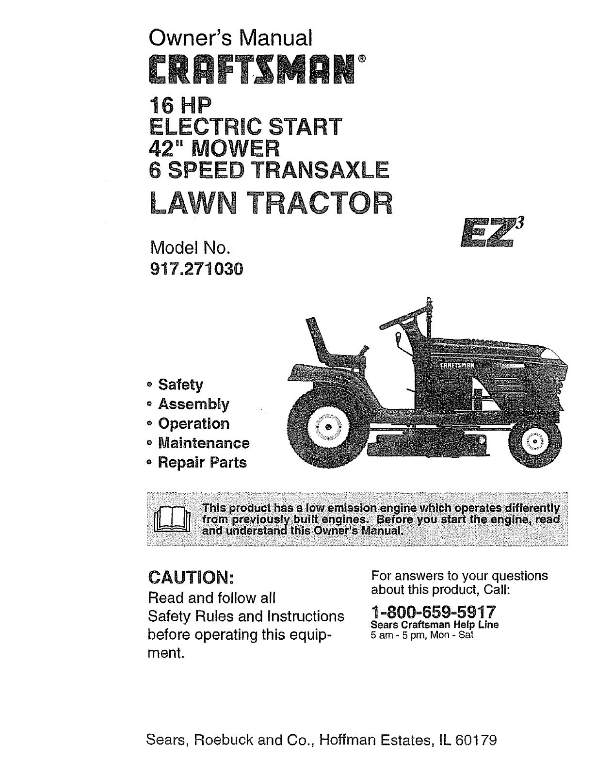 craftsman lawn mower model 917 wiring diagram Download-Craftsman Riding Lawn Mower Parts In Lt2000 Wiring Diagram 9 14-b