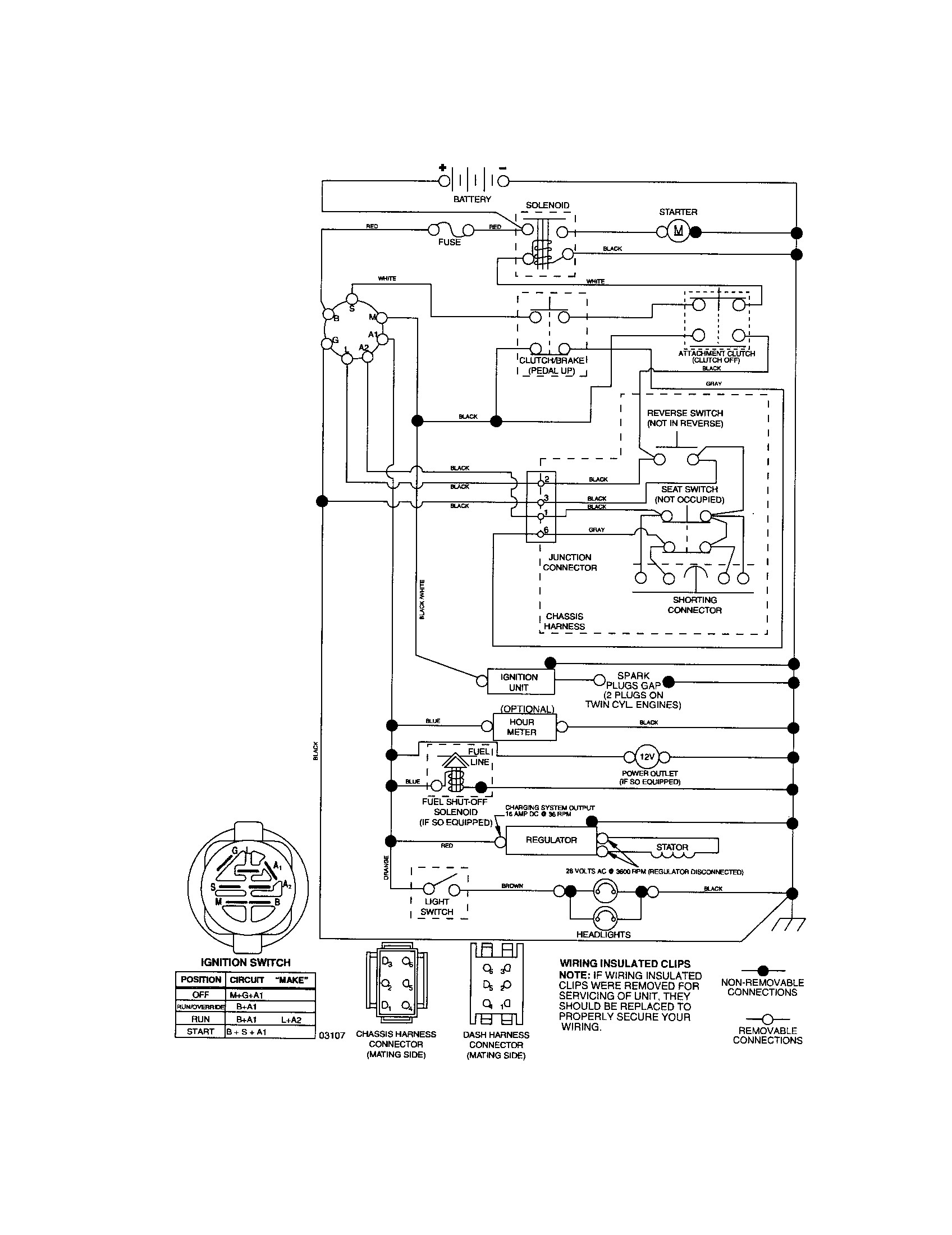 craftsman pto switch wiring diagram free wiring diagram rh  ricardolevinsmorales com Ford PTO Switch Wiring Diagram