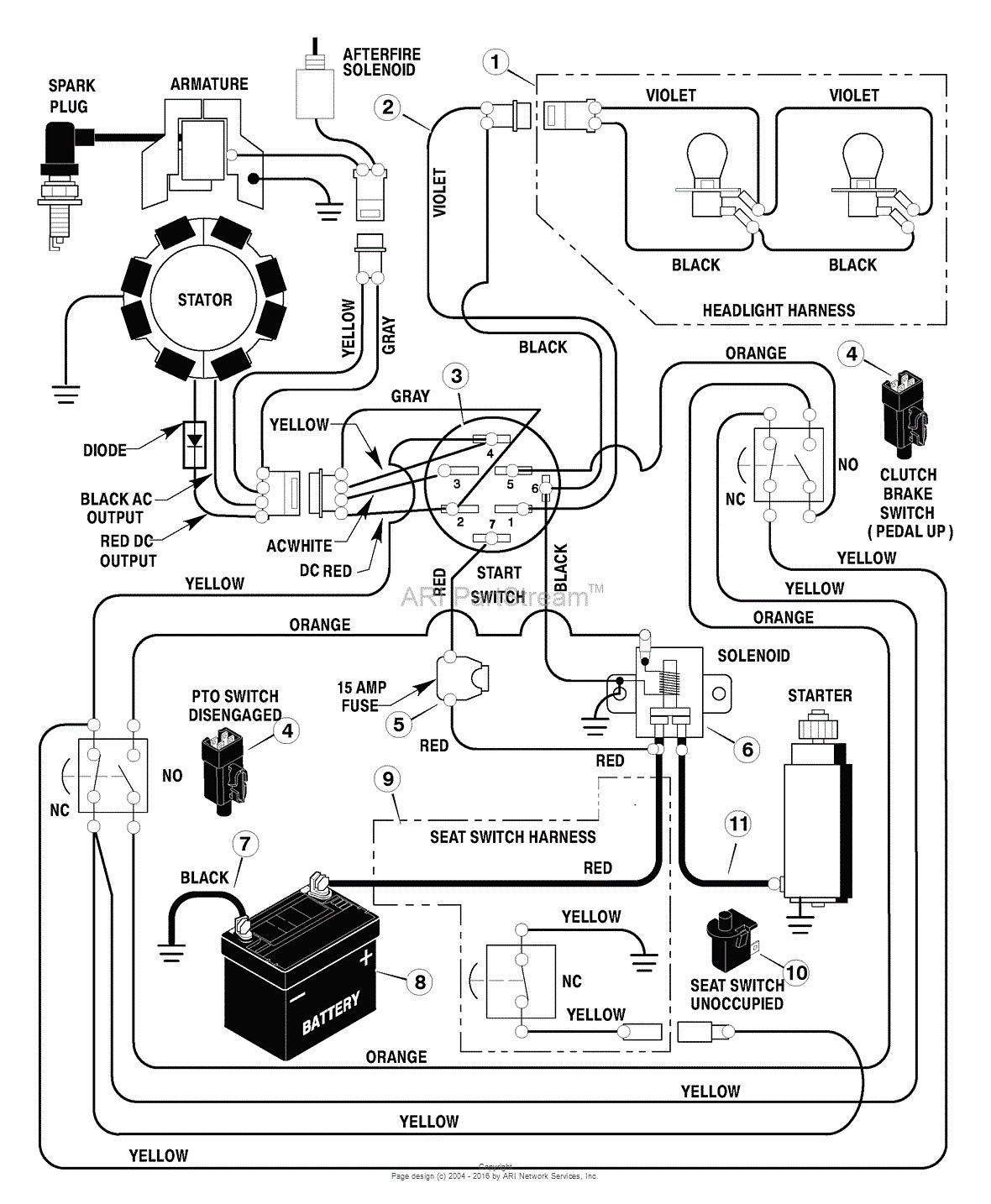Craftsman Riding Lawn Mower Lt1000 Wiring Diagram | Free ...