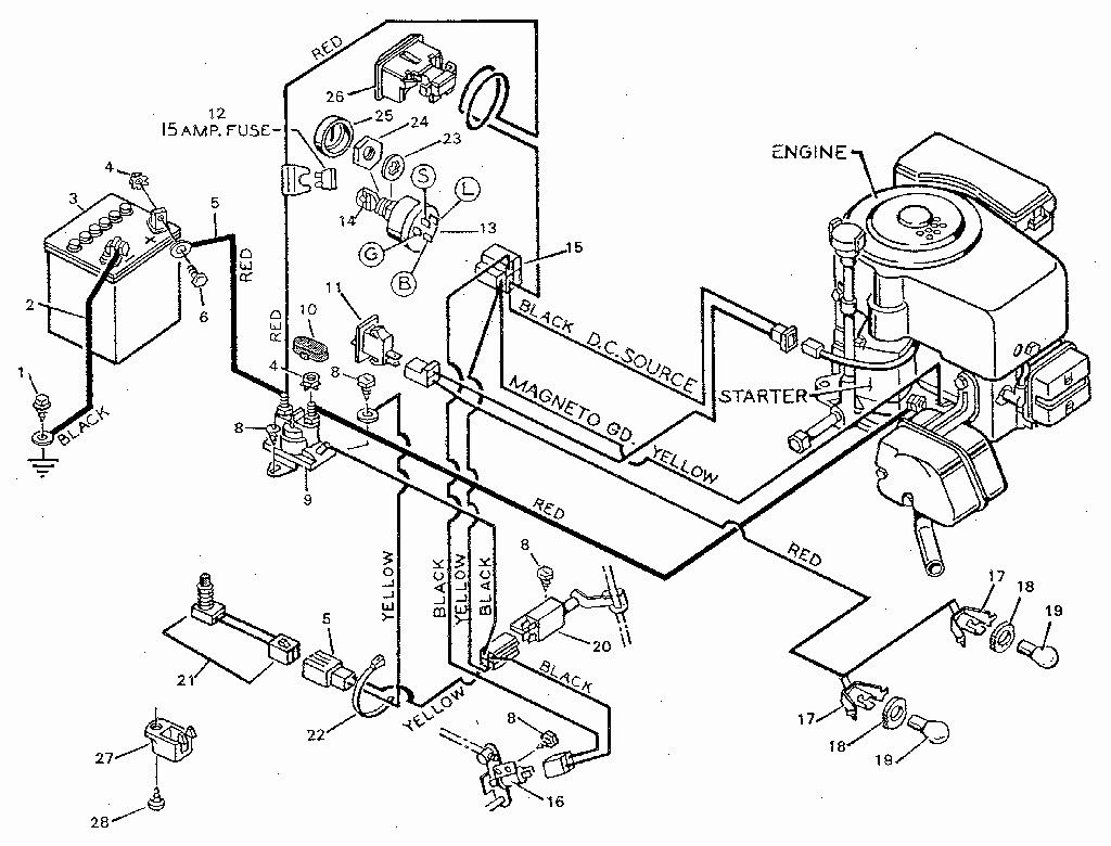craftsman riding lawn mower lt1000 wiring diagram