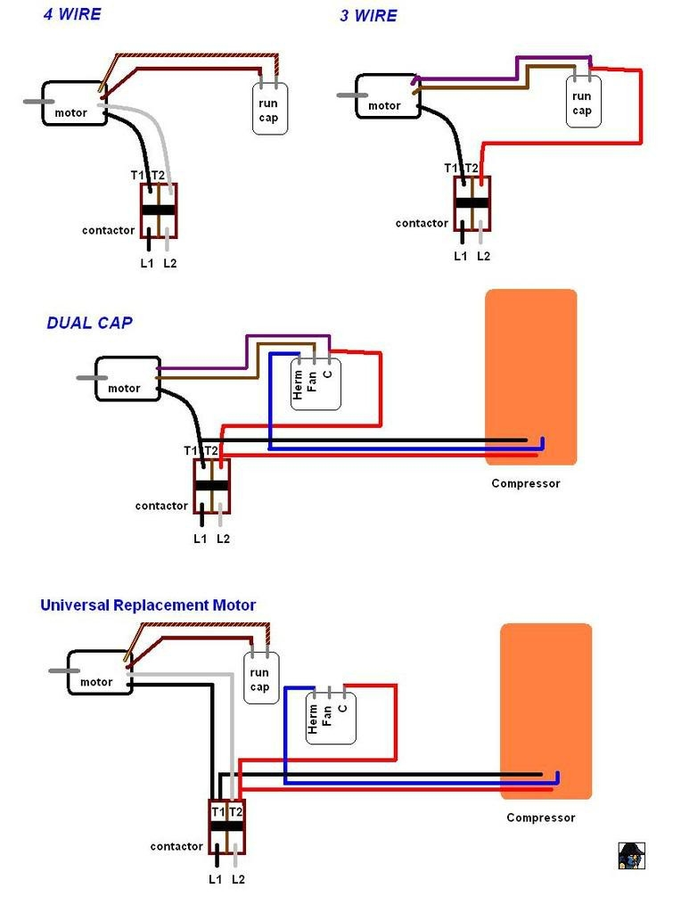 Dc Motor Wiring Diagram 4 Wire - Ac Condenser Fan Motor Wiring Diagram  Elvenlabs Lovely 3