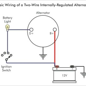 Delco 3 Wire Alternator Wiring Diagram - Delco Remy Alternator Wiring Diagram Further Gm 1 Wire Alternator Rh Sischool Co 3b