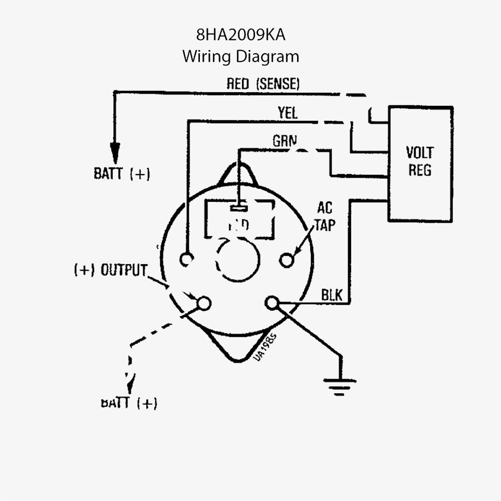 Delco 3 Wire Alternator Wiring Diagram | Free Wiring Diagram