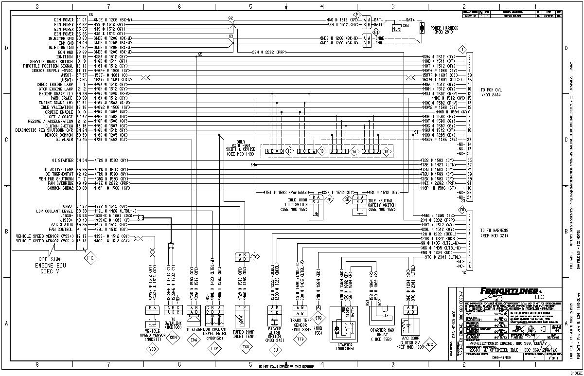 detroit diesel series 60 wiring diagram Download-Detroit Series 60 Ecm Wiring Diagram Lovely fortable Freightliner Wiring Diagrams Free Electrical 4-t