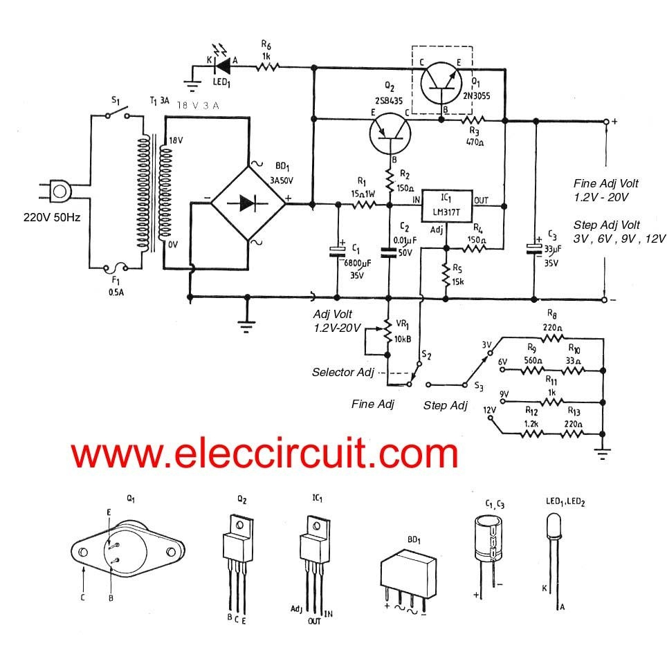 dual pro charger wiring diagram Collection-Dual Pro Charger Wiring Diagram Lovely 3a Adjustable Voltage Regulator Circuit with Pcb Eleccircuit 16-j