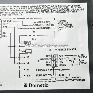 Duo therm thermostat Wiring Diagram - Samples Duo therm thermostat Wiring Diagram In Dometic Rv 12s