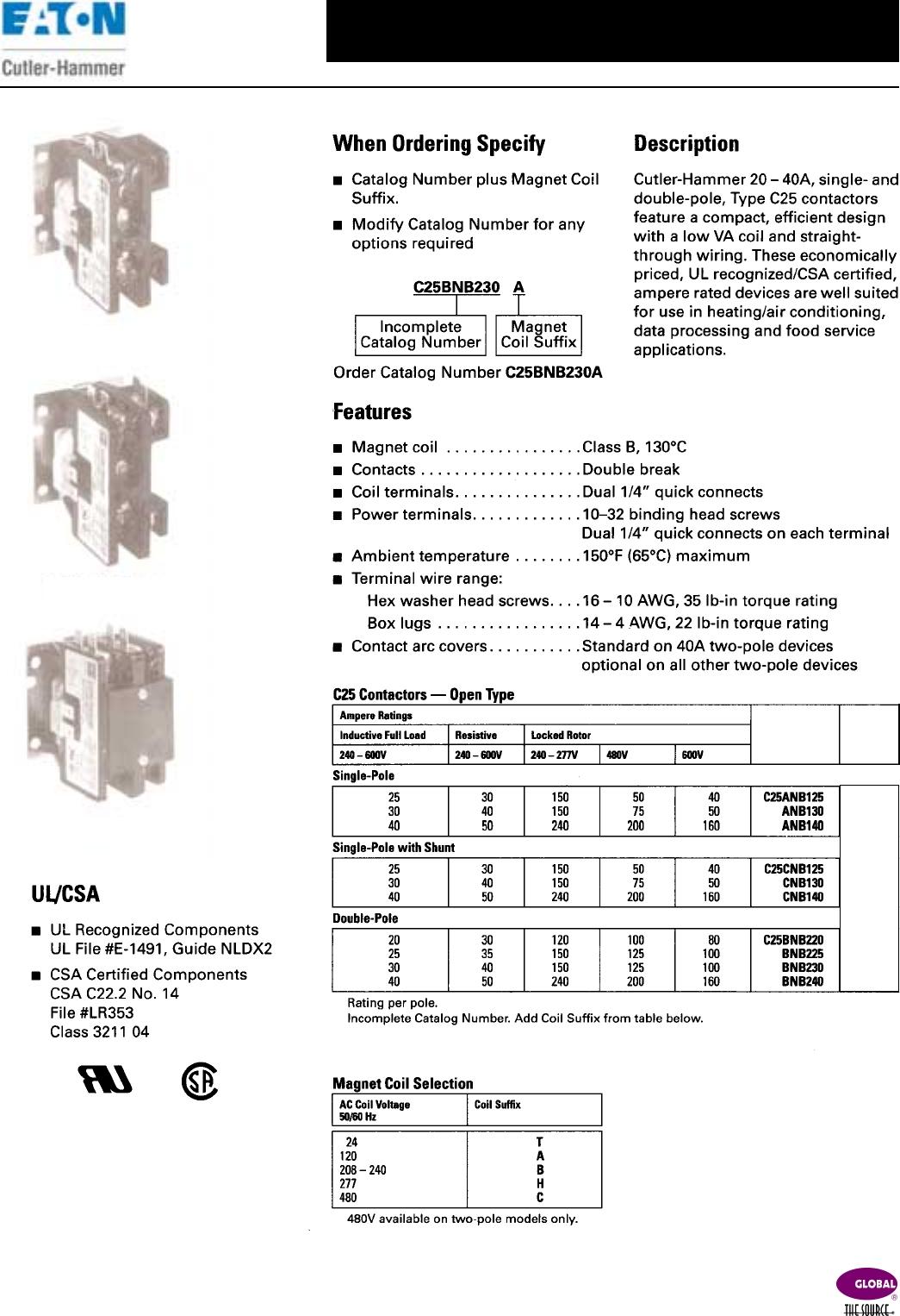 eaton c25bnb230a wiring diagram Download-Eaton C25bnb230a Wiring Diagram New Cat Master Bu Catalog 15-b