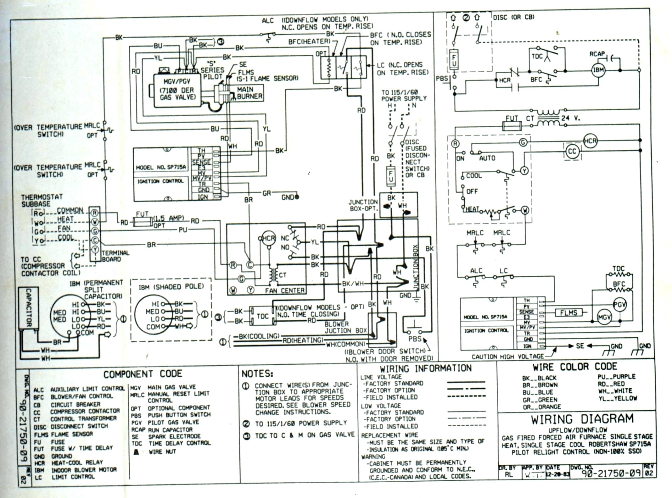 electric heat strip wiring diagram