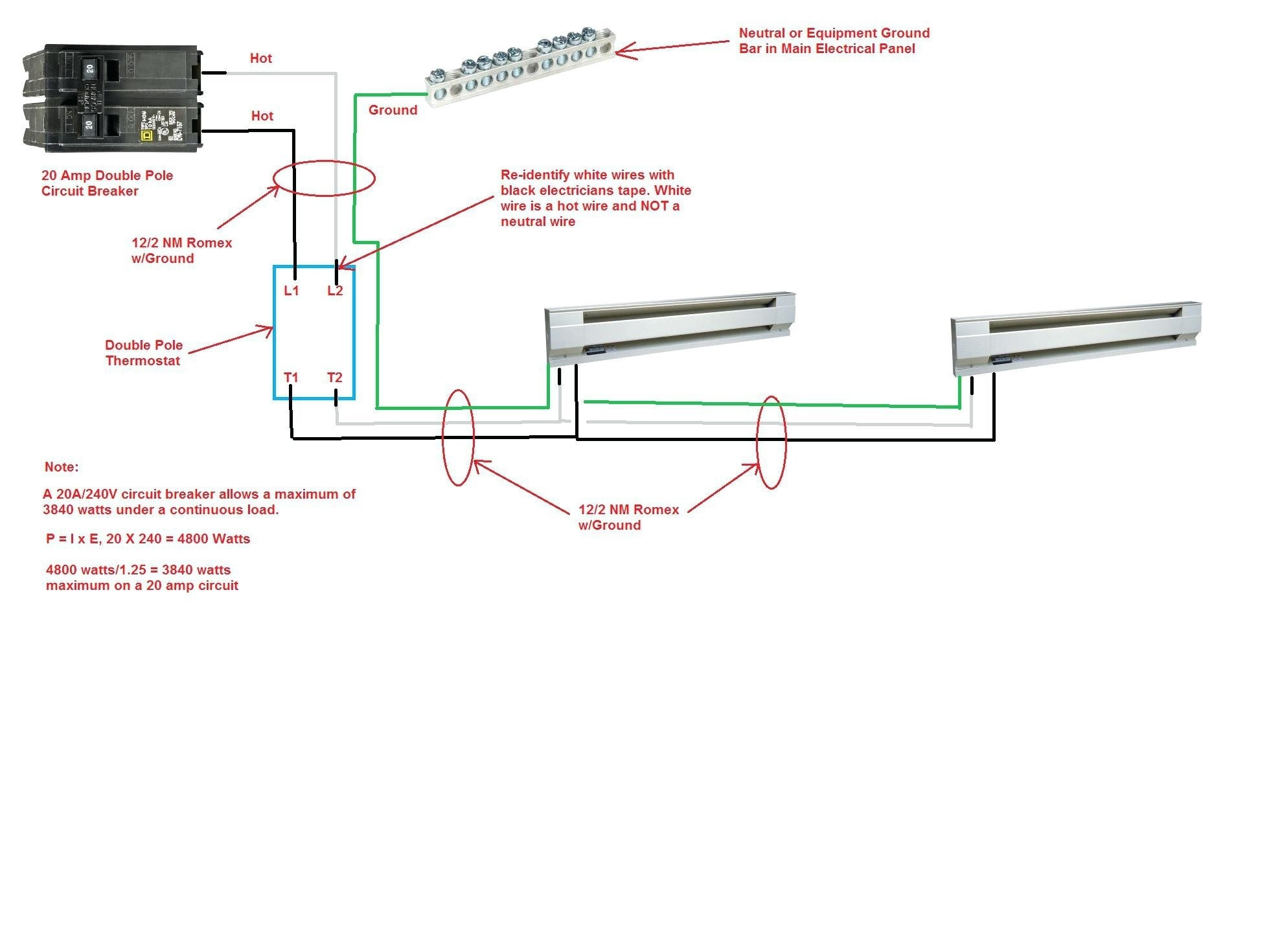 electric heat thermostat wiring diagram Download-Wiring Diagram 240v Baseboard Heater Thermostat Best Bright 220v 17-m