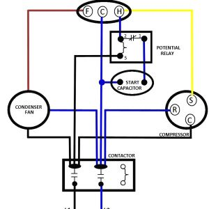 Electric Motor Capacitor Wiring Diagram - Ac Dual Capacitor Wiring Diagram 5n