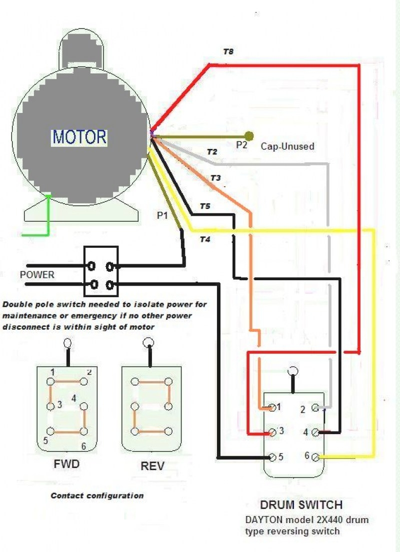 Electric Motor Reversing Switch Wiring Diagram