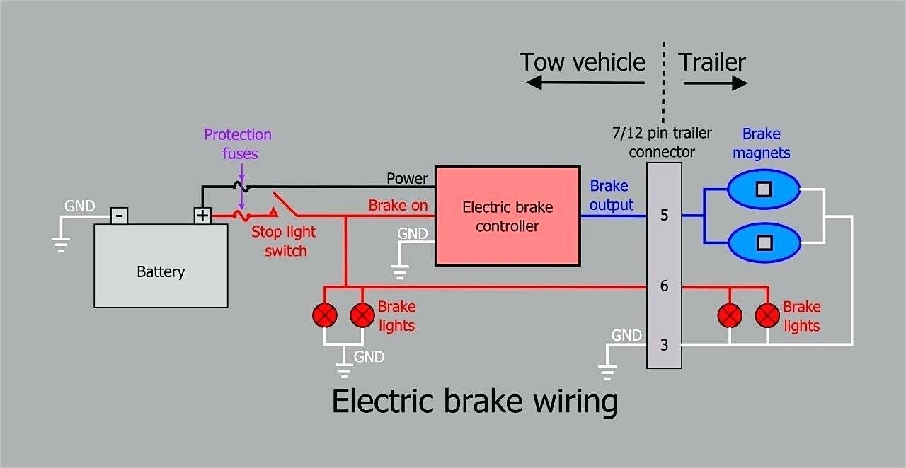 electric trailer brake wiring schematic free wiring diagram. Black Bedroom Furniture Sets. Home Design Ideas