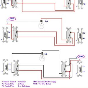 Electrical Light Switch Wiring Diagram - Do Staircase Wiring Circuit with 3 Different Methods Electrical Showy Two Light Switch Diagram 2p