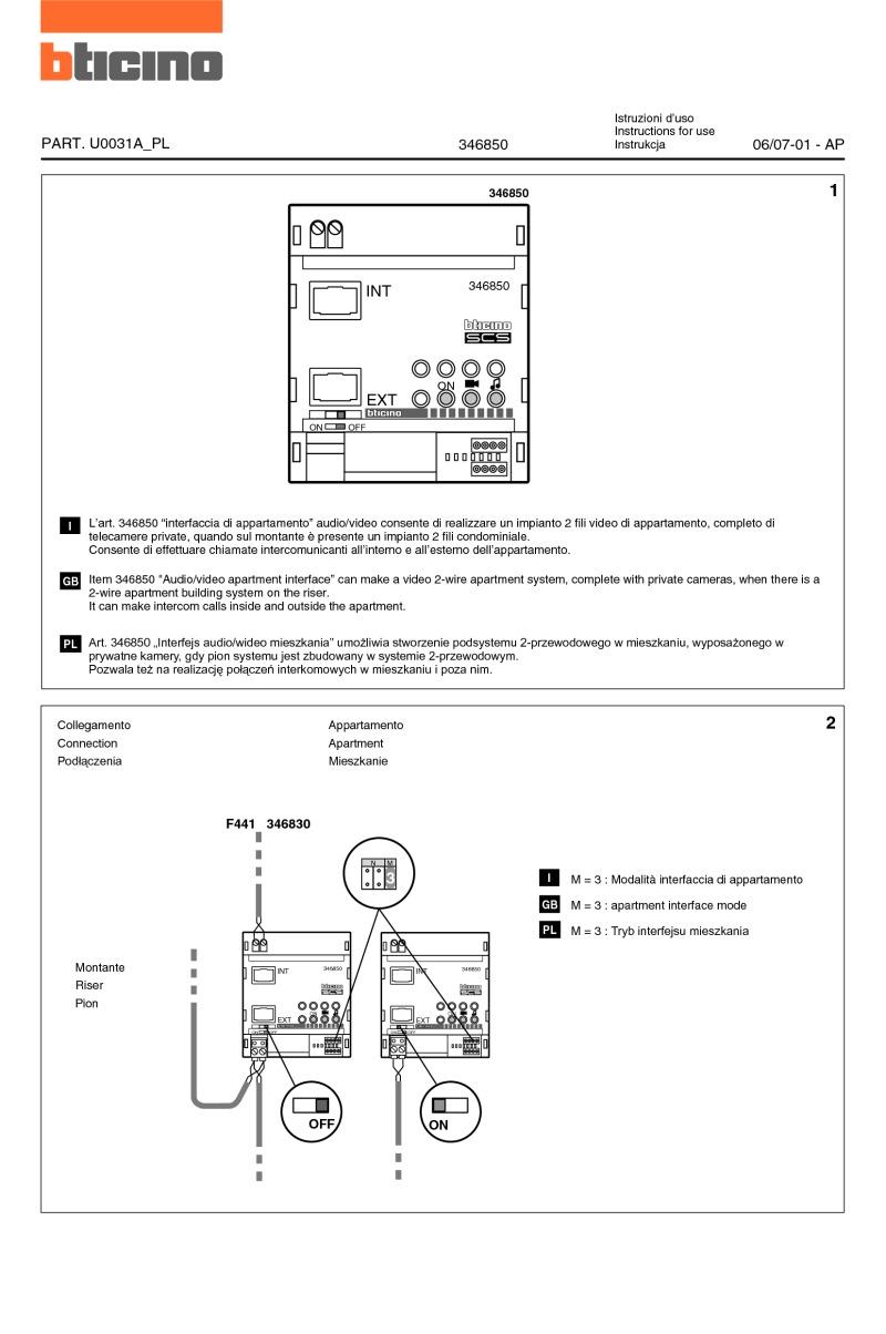 elvox intercom wiring diagram Download-Elvox Inter Wiring Diagram Elegant Bticino Wiring Diagrams 6-h