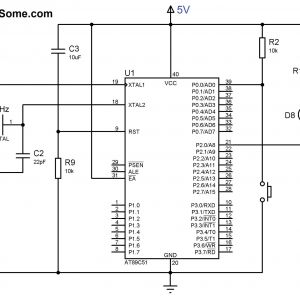 Emergency Stop button Wiring Diagram - Circuit Diagram Led and Switch Interfacing with at89c51 8051 Microcontroller 13m