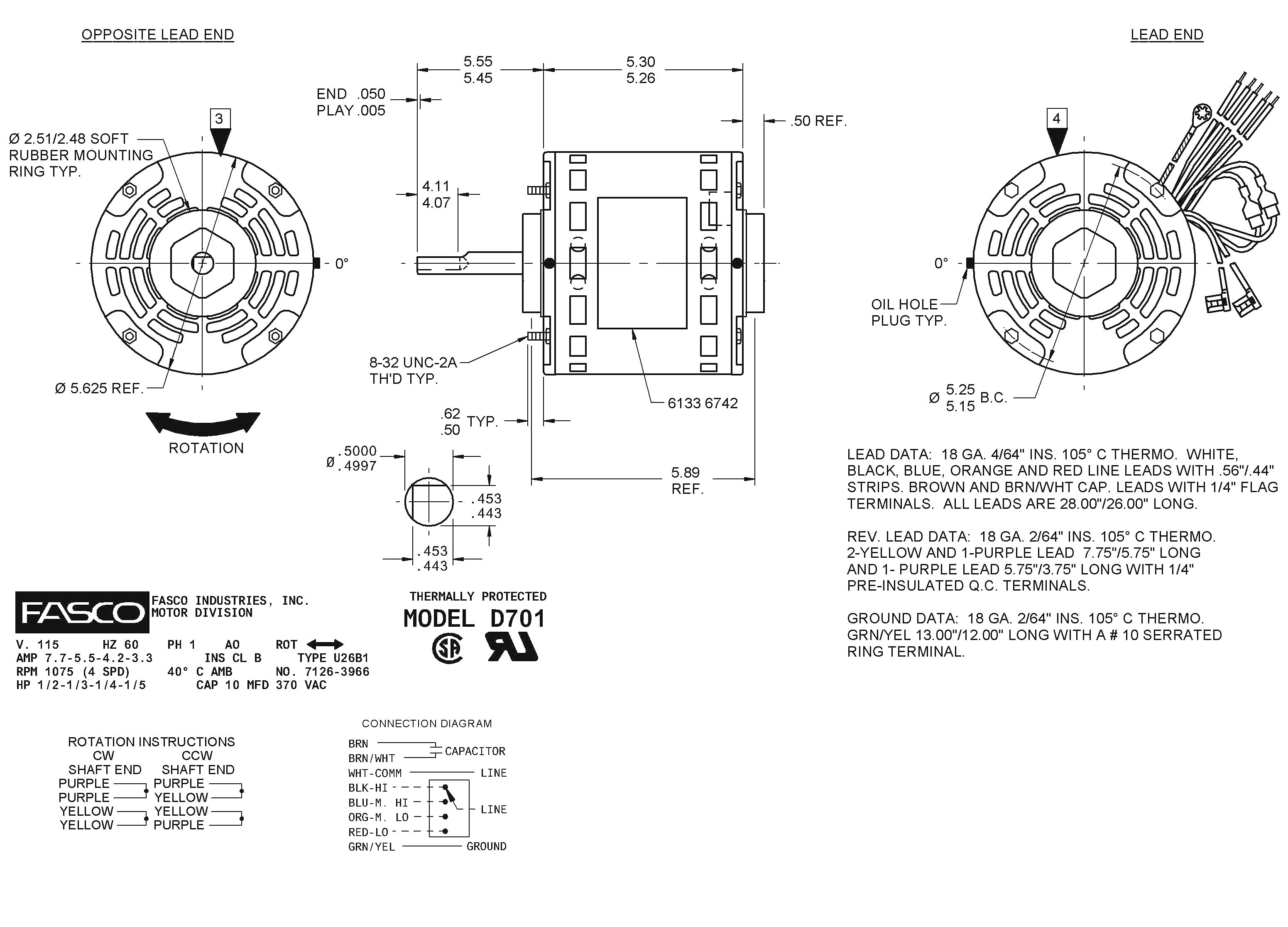 Emerson Electric Motors Wiring Diagram