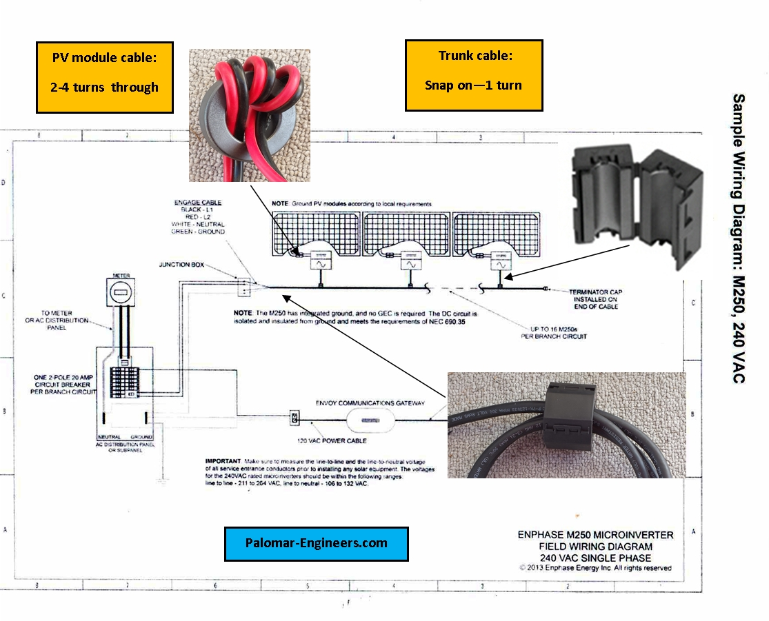 enphase micro inverter wiring diagram Collection-Enphase Field Wiring Diagram Download palomar engineers solar interference filter installation diagram 2 18 11-n