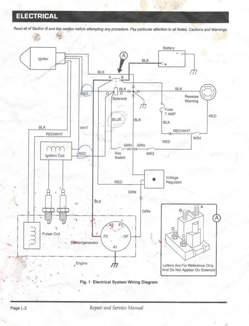 Ez Go Golf Cart Wiring Diagram Gas Engine | Free Wiring ...