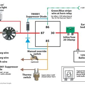 Fan Wiring Diagram - Electric Fan Wiring Diagram Also Here is the 6c