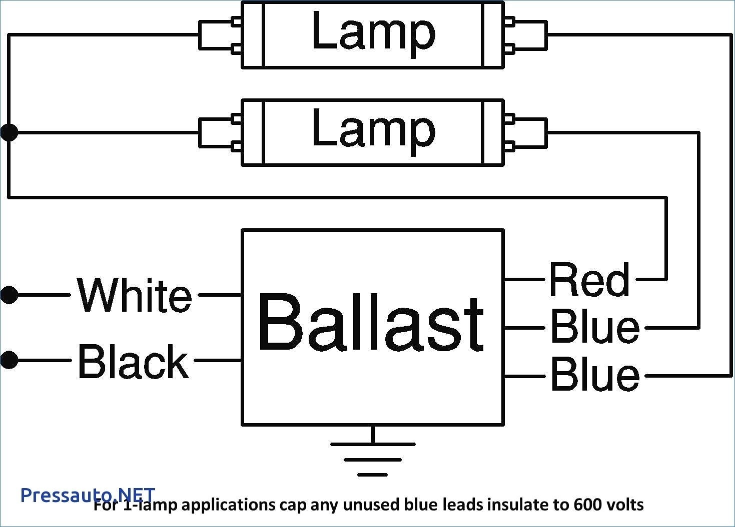 fluorescent ballast wiring schematic Download-2 Lamp Ballast Wiring Diagram Unique 4-t