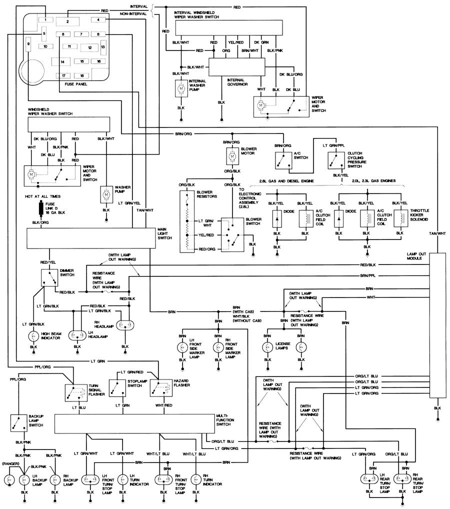 ford e350 wiring diagram | free wiring diagram 1989 bronco 2 wiring diagram 2 9 bronco 2 wiring harness diagram #12
