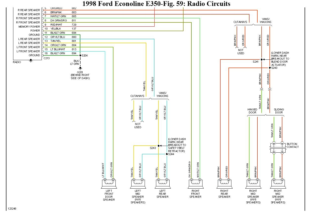 ford econoline radio wiring diagram Download-Ford E350 Wiring Diagram 15-l