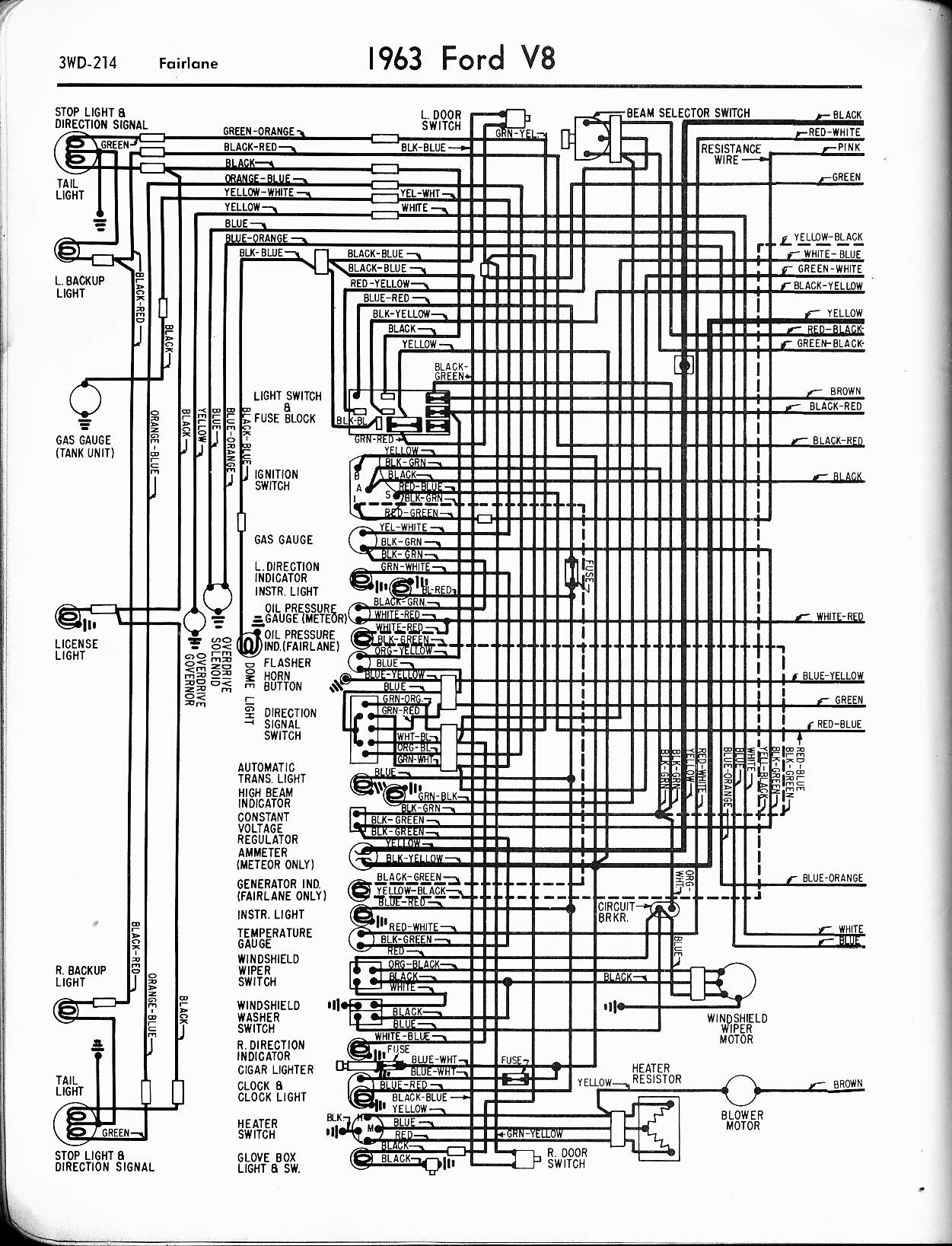 ford stereo wiring diagram Collection-1963 V8 Fairlane left 5-t